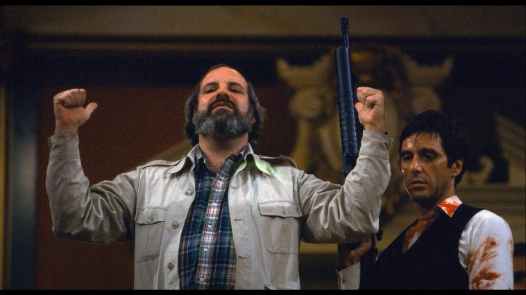 Scaeface, una foto dal set del film.