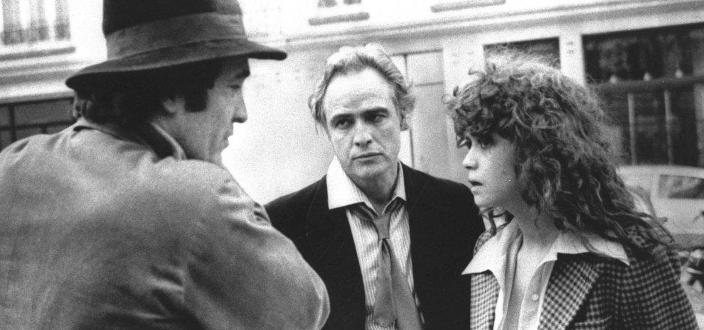 Bernardo Bertolucci, Marlon Brando e Maria Schneider sul set del film