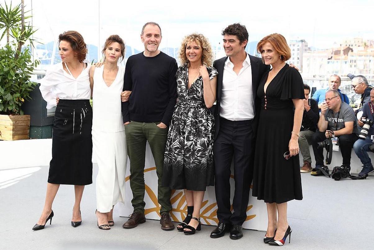 Valeria Golino e il cast al photcall di Euforia a Cannes71.