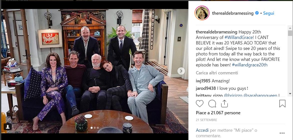 Will & Grace, il cast festeggia i vent'anni della serie