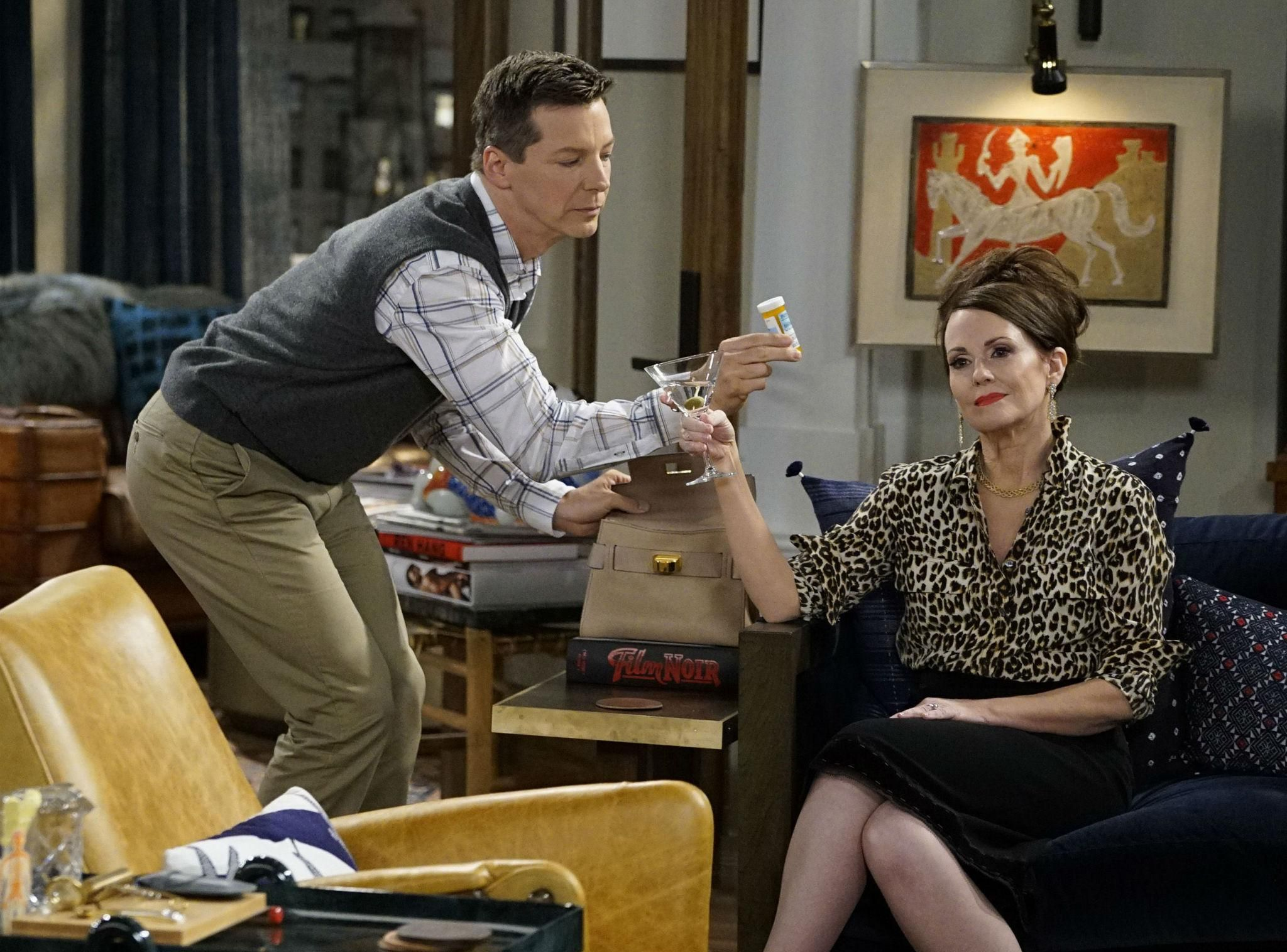 Sean Hayes assieme a Megan Mullally
