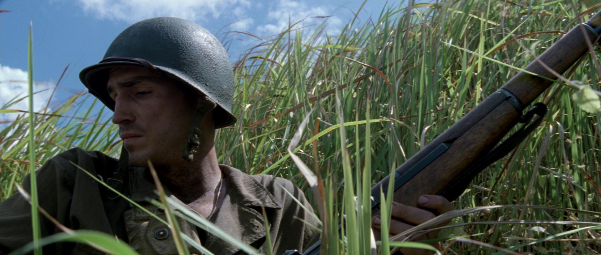 La sottile linea rossa, una scena del film.