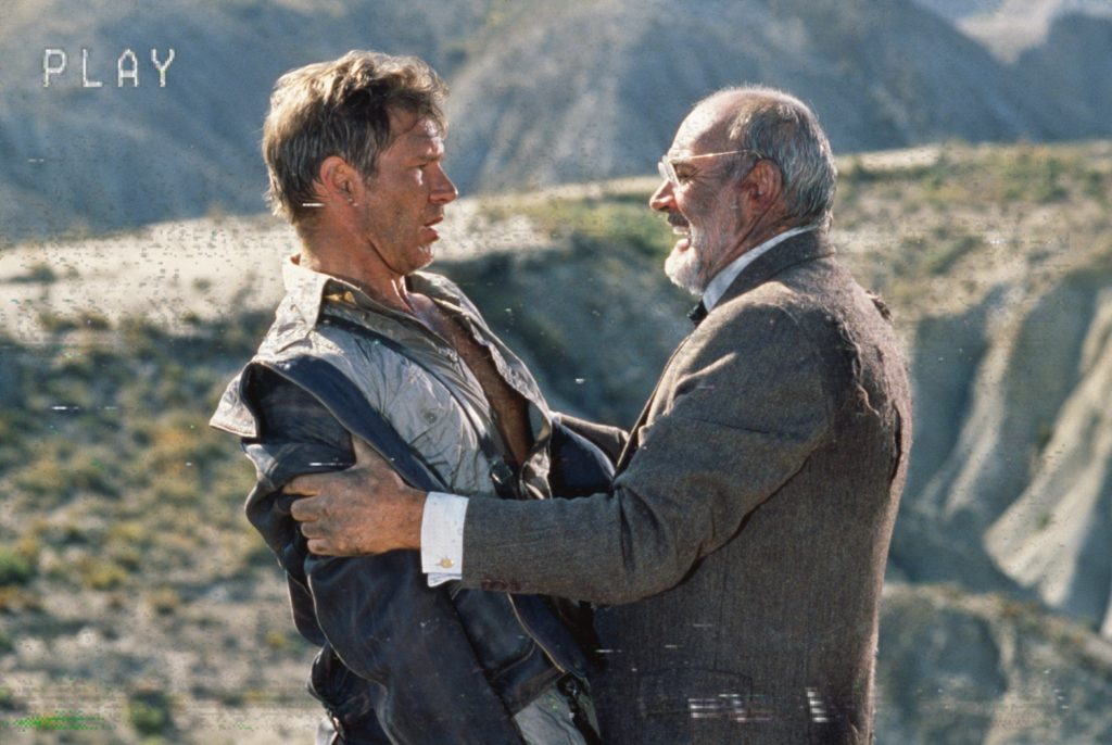 Effetto VHS: Harrison Ford con Sean Connery in una scena di Indiana Jones
