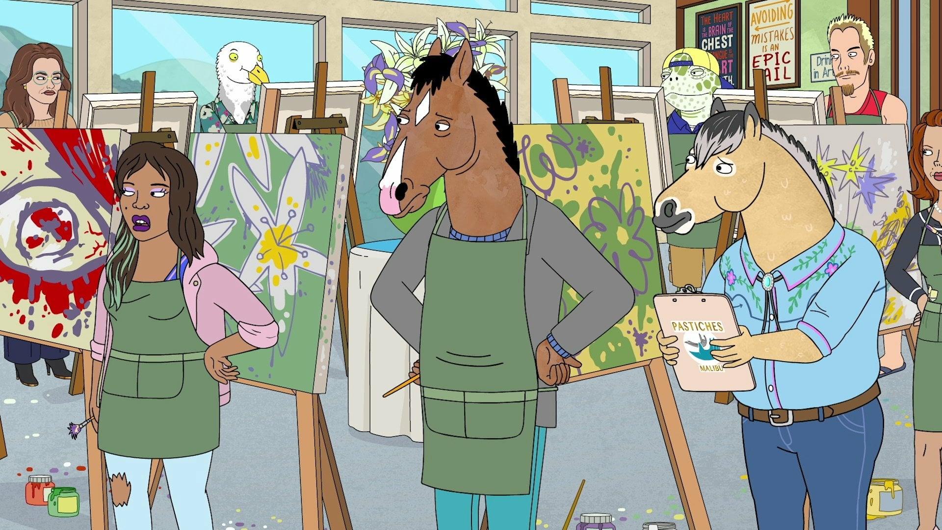 BoJack Horseman 6: una scena della sesta stagione della serie Netflix