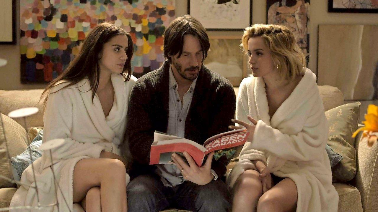 Lorenza Izzo, Keanu Reeves e Ana De Armas in Knock Knock