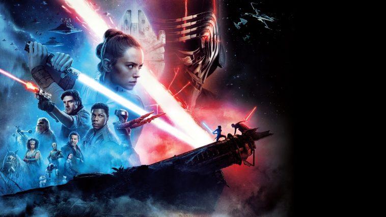 Rey, Finn, Poe e gli altri. il banner di Star Wars: L'Ascesa di Skywalker