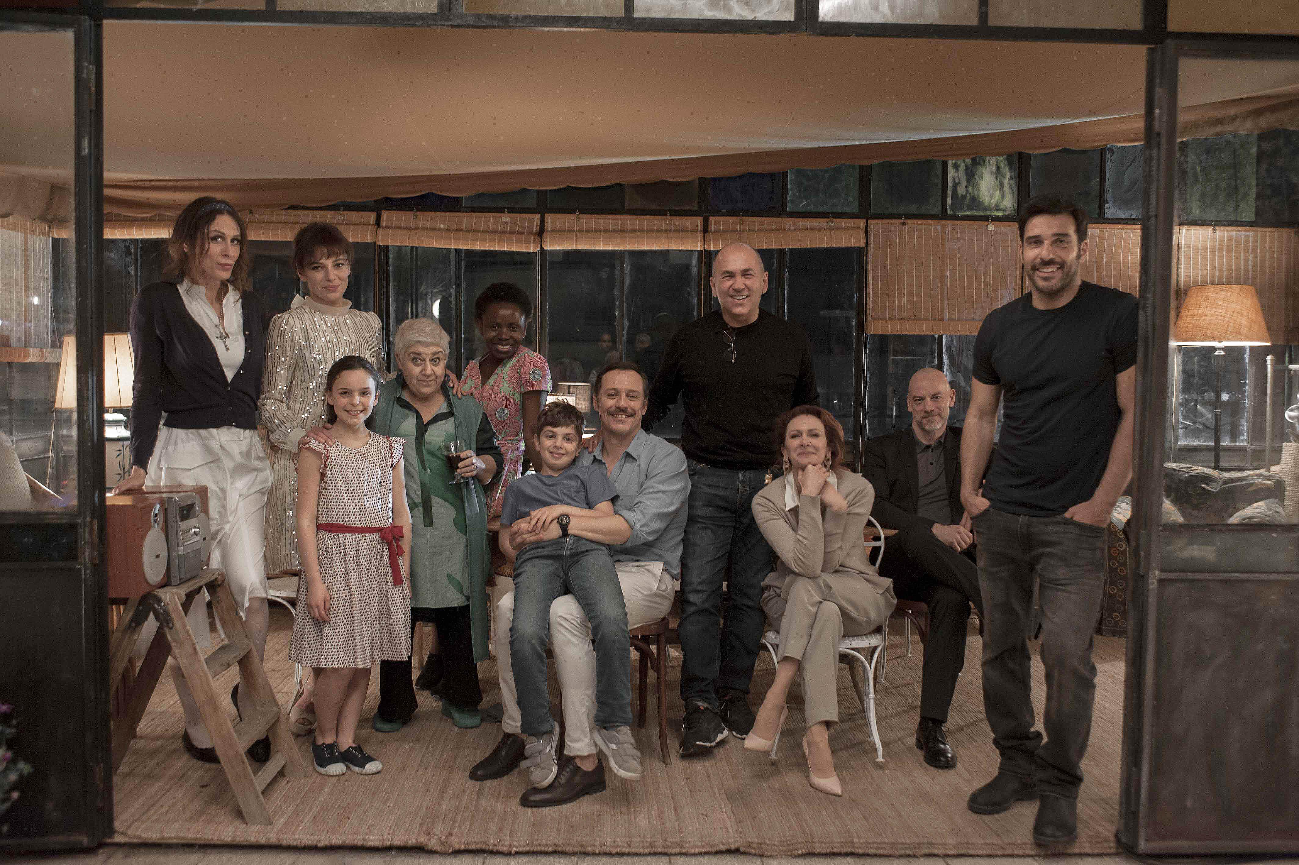 Ferzan Özpetek e il cast de La Dea Fortuna
