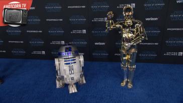 R2-D2 e C-3PO alla Première di Star Wars: L'Ascesa di Skywalker