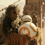 Chewbacca e BB-8 sul set di Star Wars: L'Ascesa di Skywalker