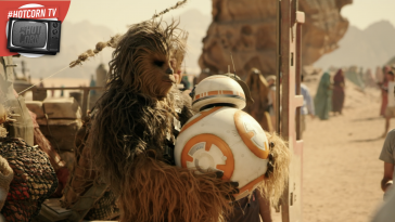 Chewbacca e BB-8 sul set di Star Wars: L'Ascesa di Skywalker