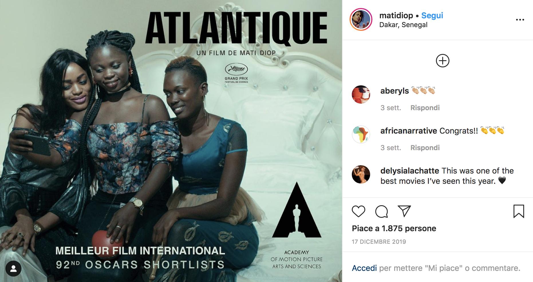 Mati Diop su Instagram