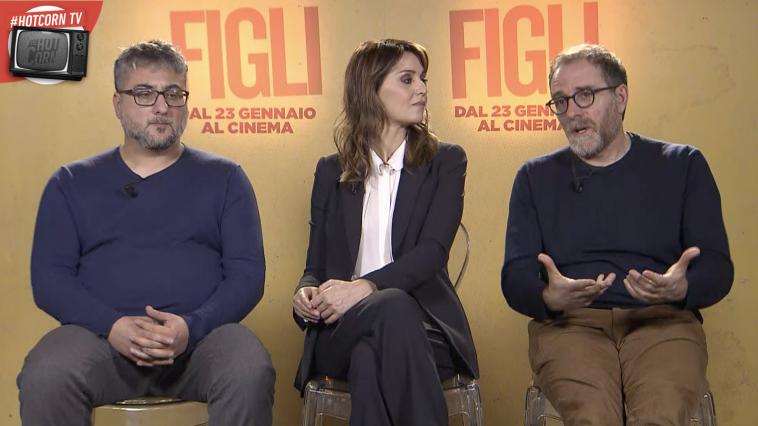 FIgli: Giuseppe Bonito, Paola Cortellesi e Valerio Mastandrea