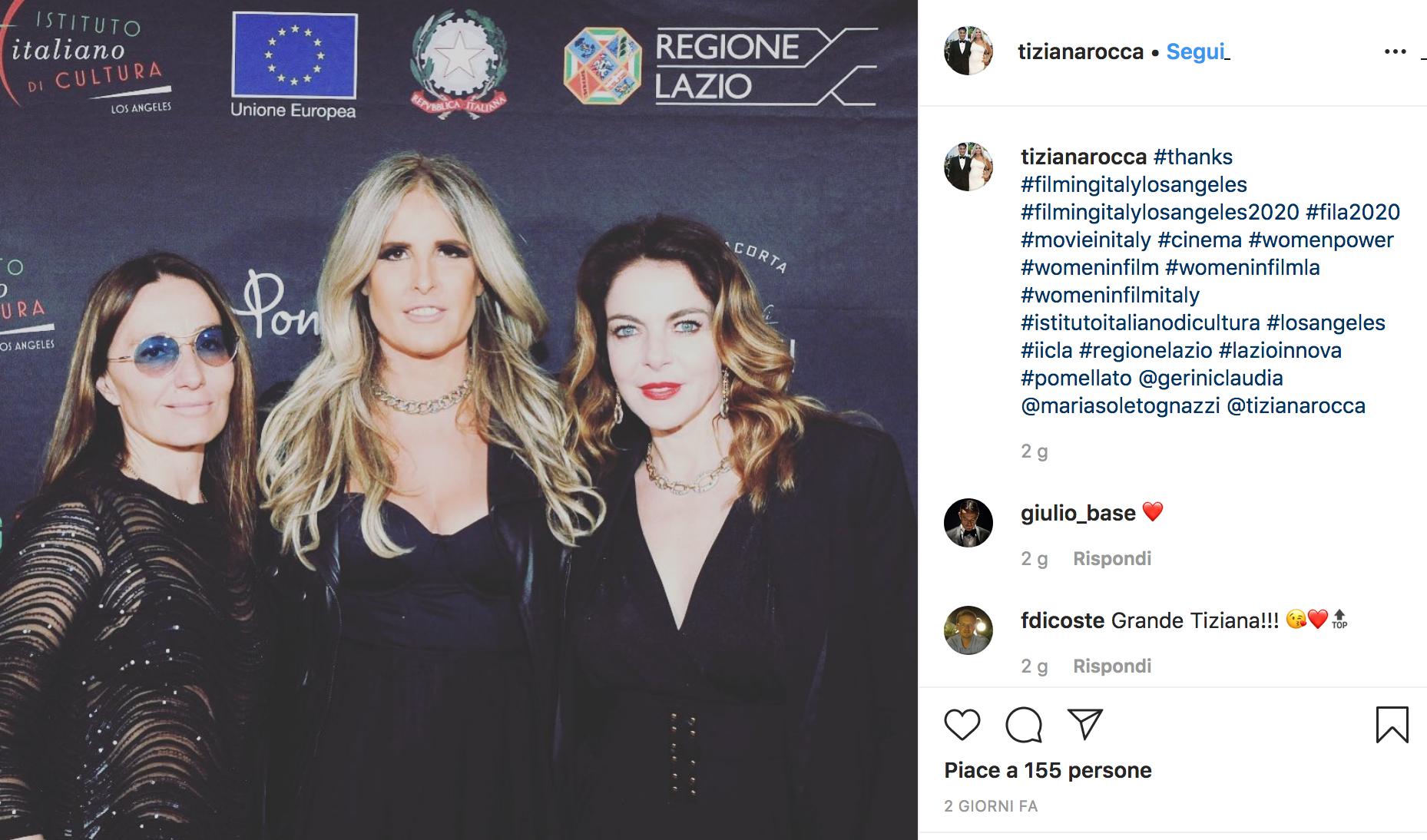 Maria Sole Tognazzi, Tiziana Rocca e Claudia Gerini a Los Angeles