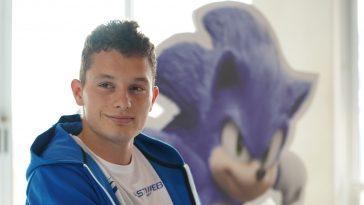 Filippo Tortu all'evento organizzato per il lancio di Sonic - Il Film