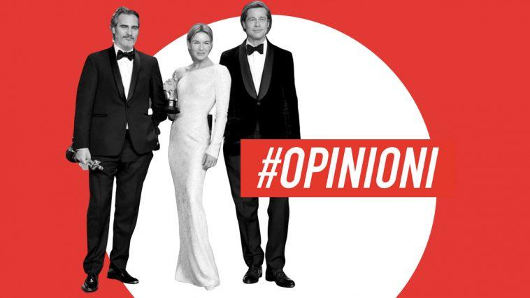 Joaquin Phoenix, Renee Zellweger e Brad Pitt in posa con i loro Oscar.
