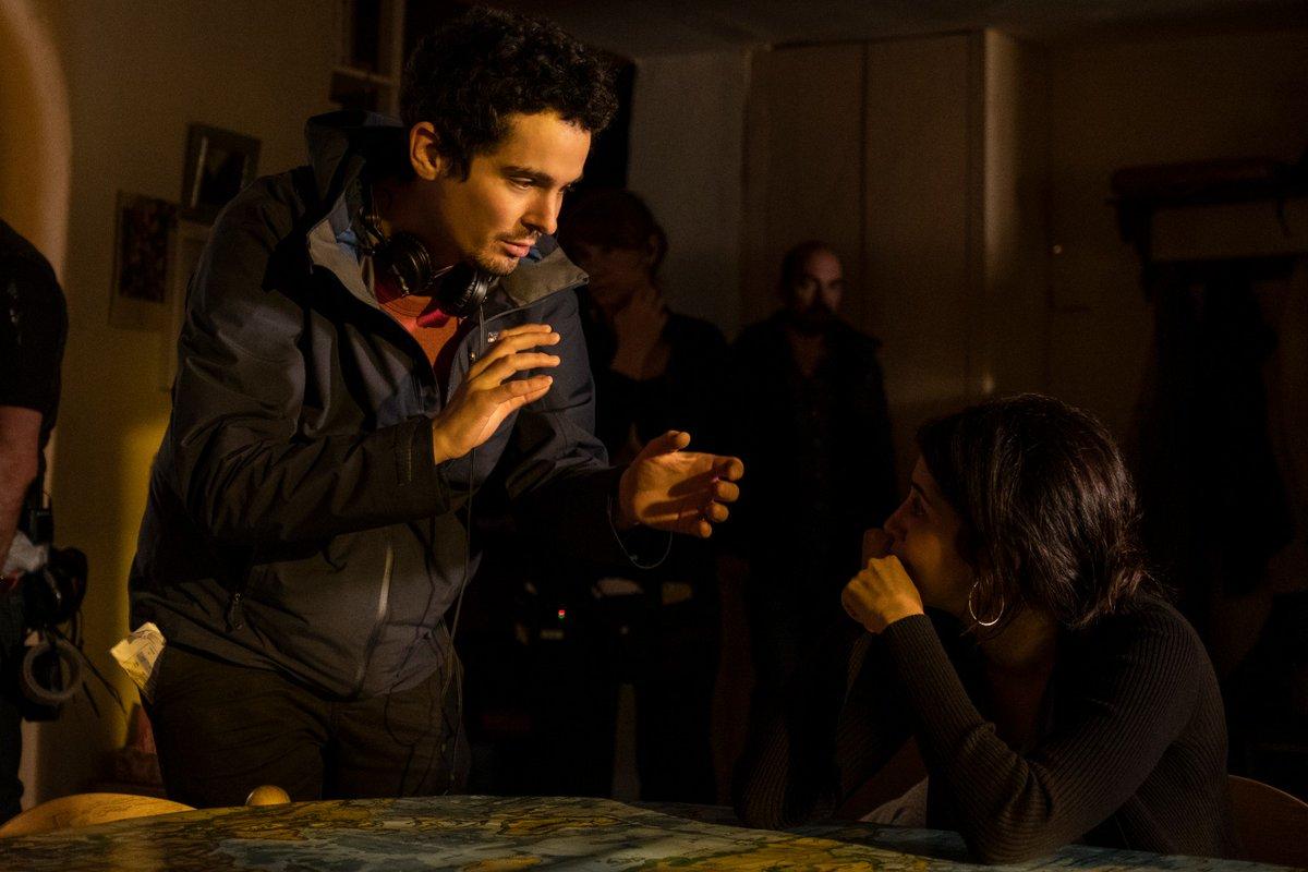 Damien Chazelle sul set di The Eddy