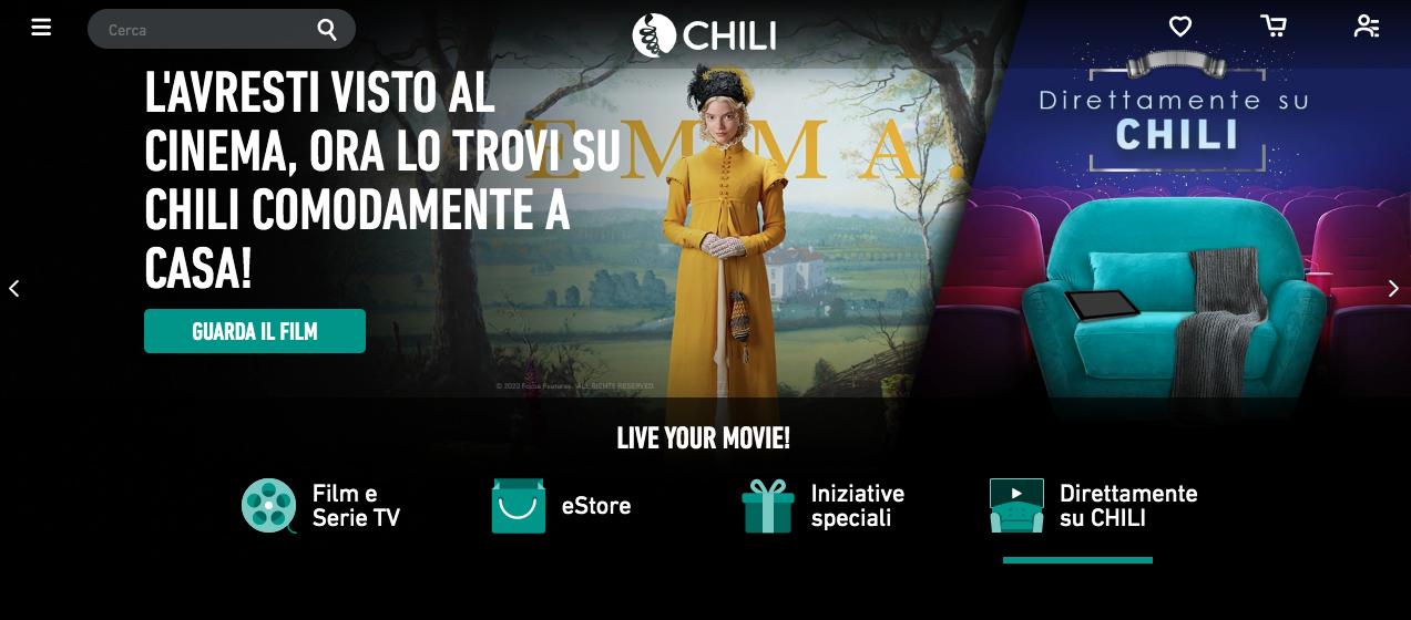 L'home page di CHILI