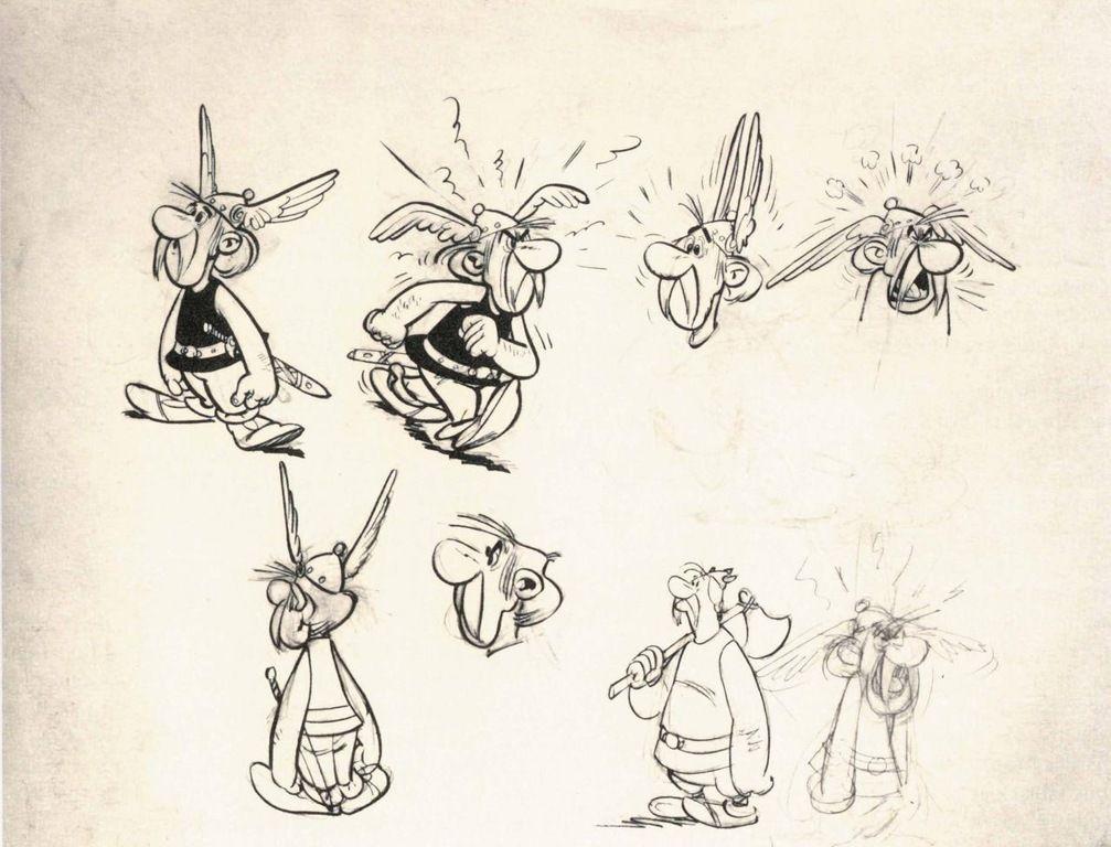 Una prima bozza di Asterix