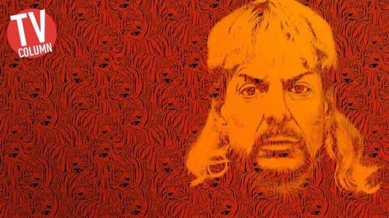 Joe Exotic nel banner della serie
