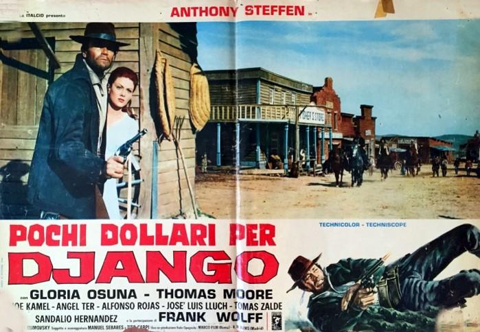 La fotobusta di Pochi Dollari per Django