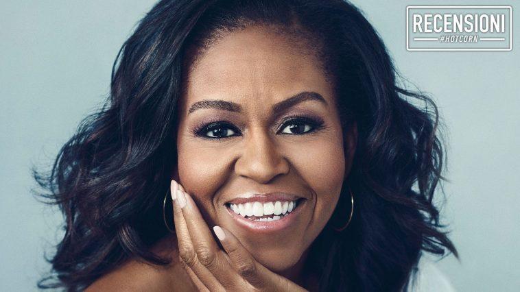 Michelle Obama sulla cover del suo libro Becoming, oggi diventato un documentario su Netflix