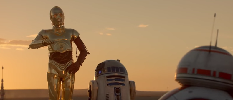 C-3PO, R2-D2 e BB-8