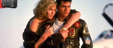 Kelly McGillis e Tom Cruise in Top Gun