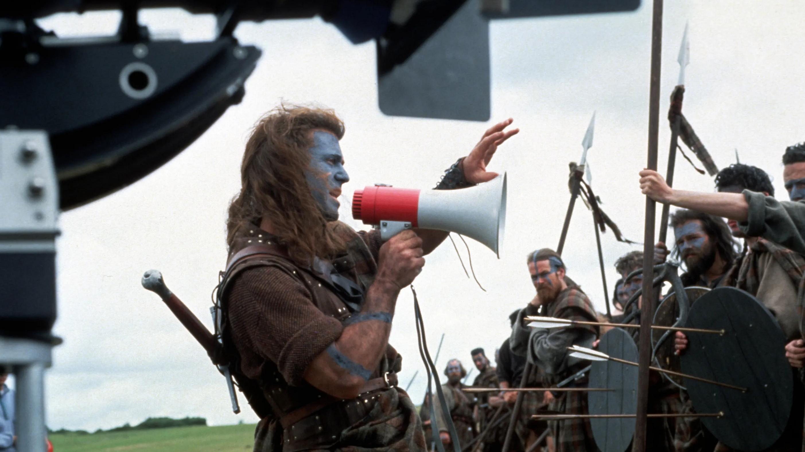 Mel Gibson e le indicazioni sul set di Braveheart