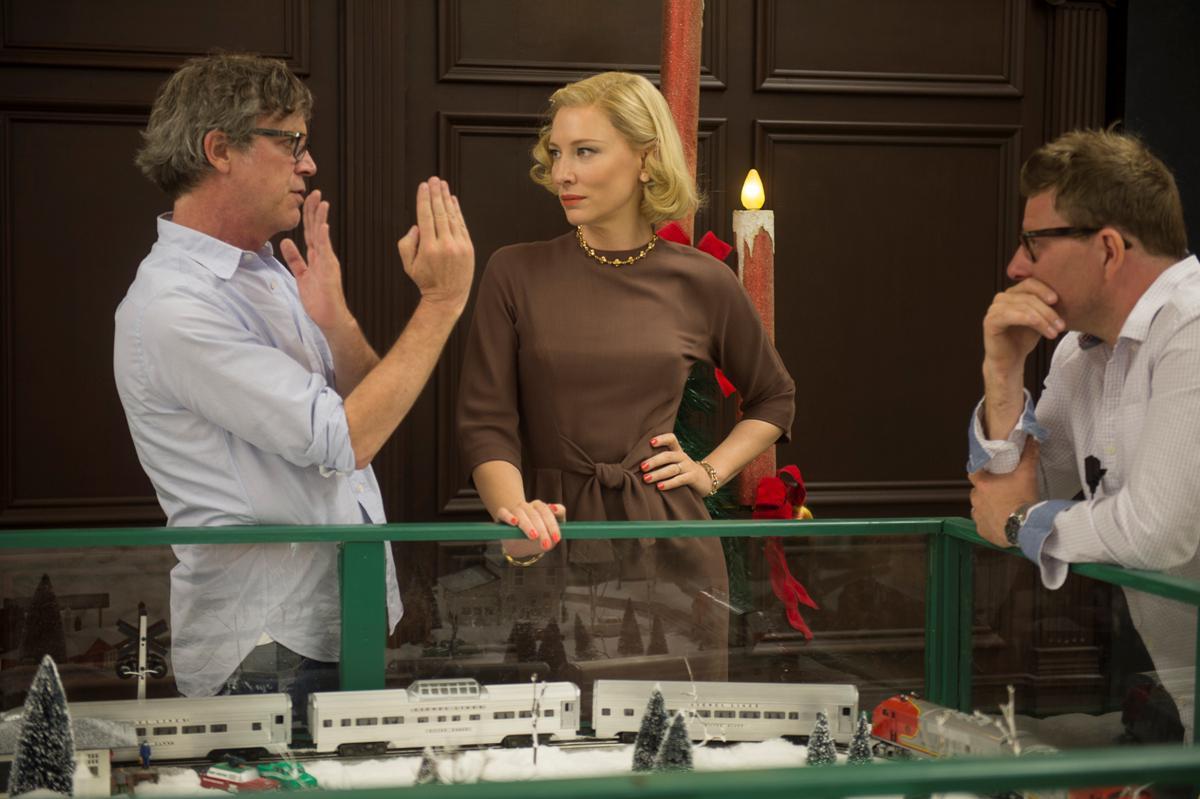 Todd Haynes e Cate Blanchett sul set di Carol