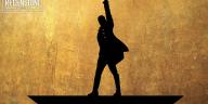 Il logo ormai iconico del musical Hamilton