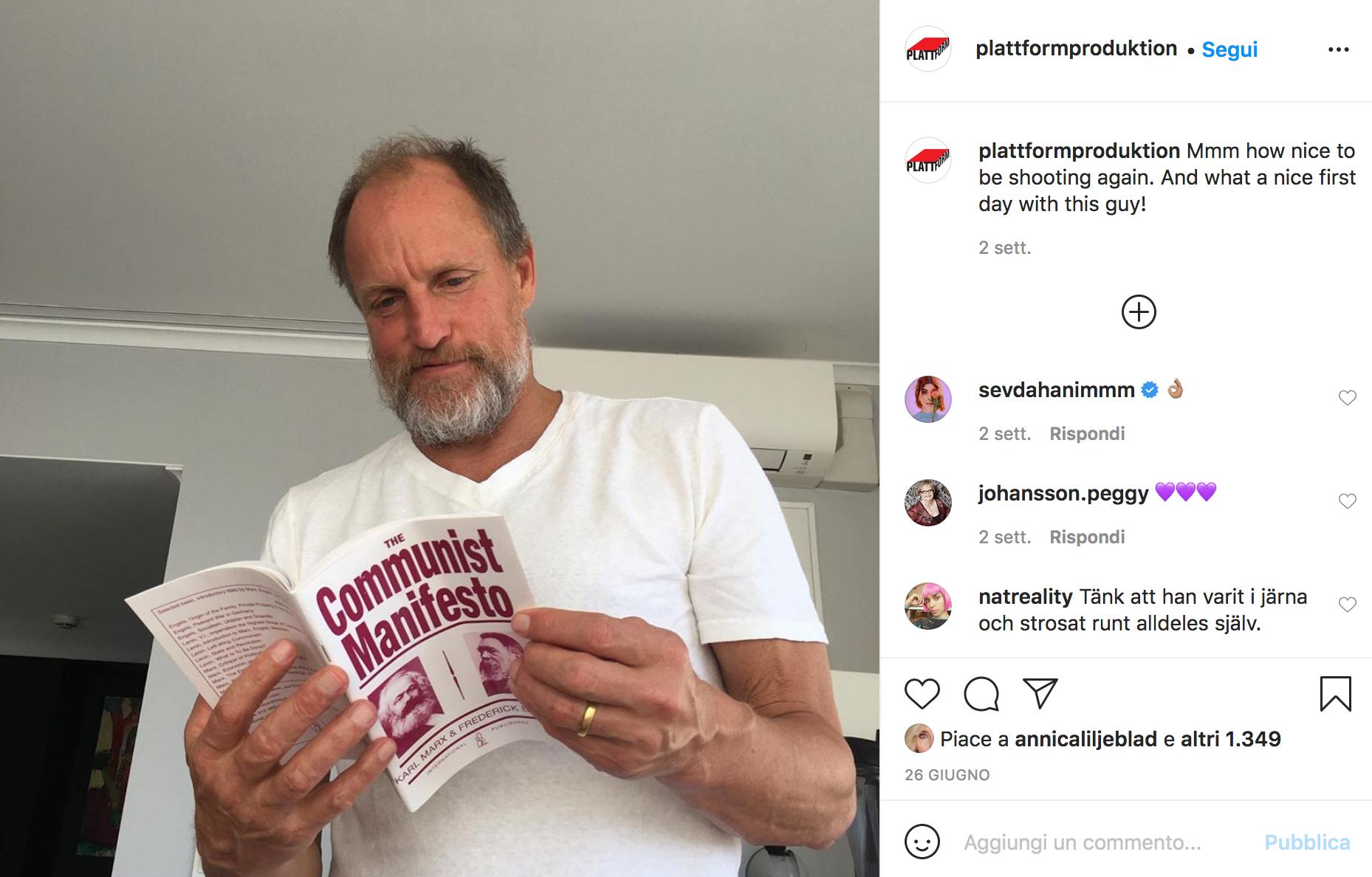 Woody Harrelson e il Manuela del Comunismo