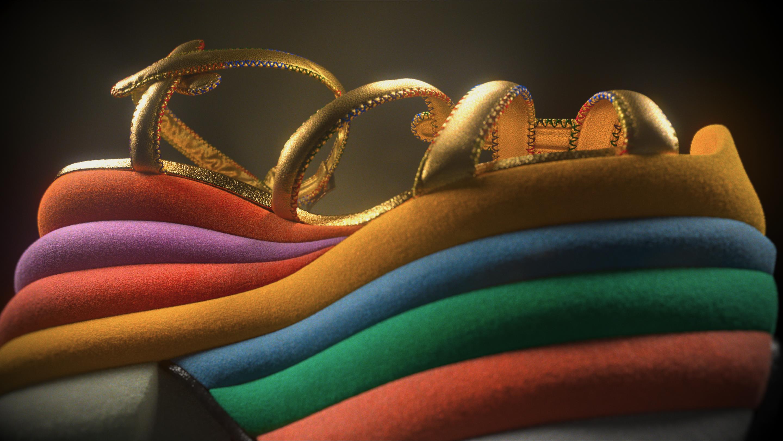 Un dettaglio delle iconiche scarpe di Ferragamo