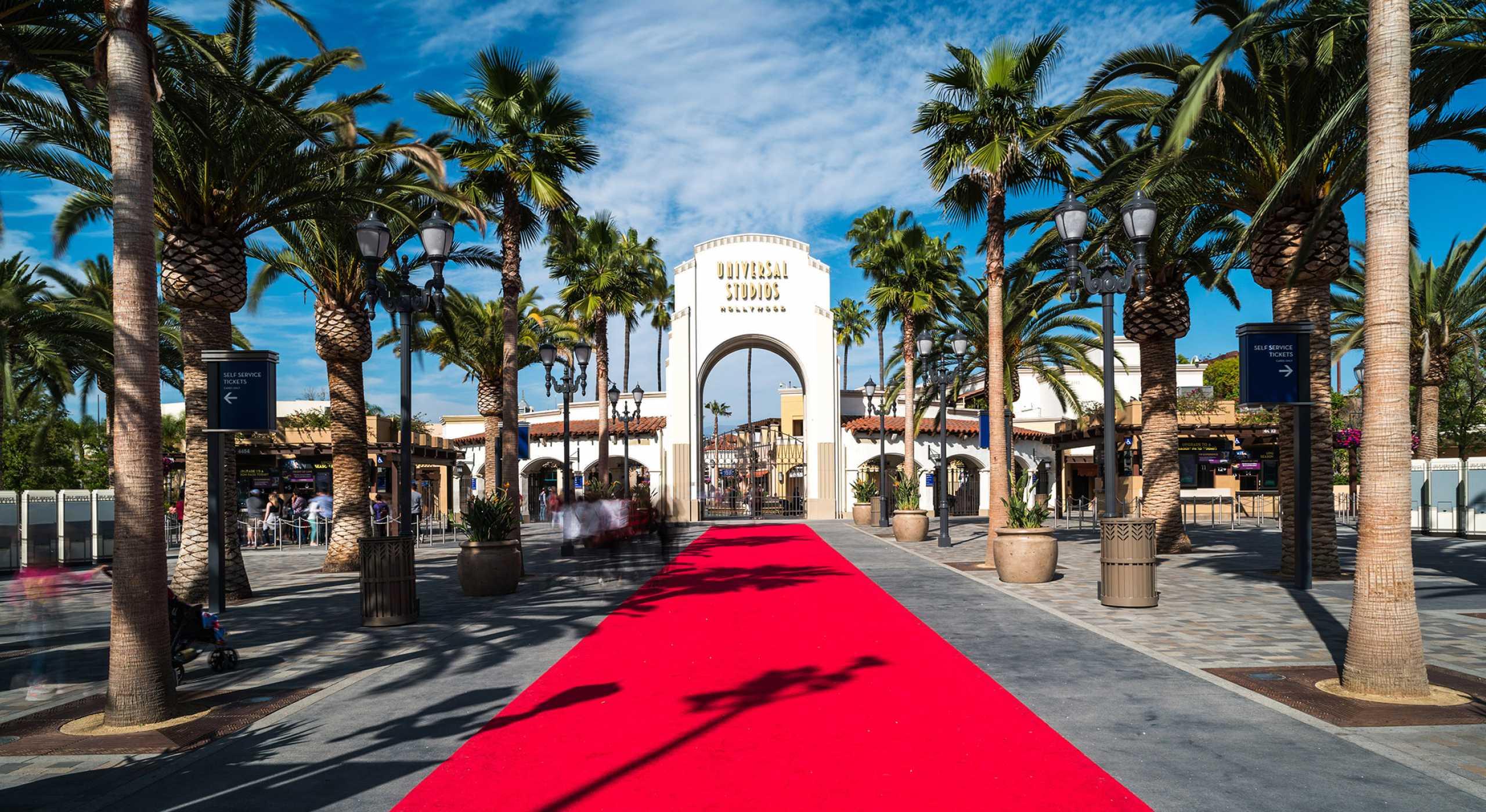L'entrata degli storici Universal Studios di Hollywood