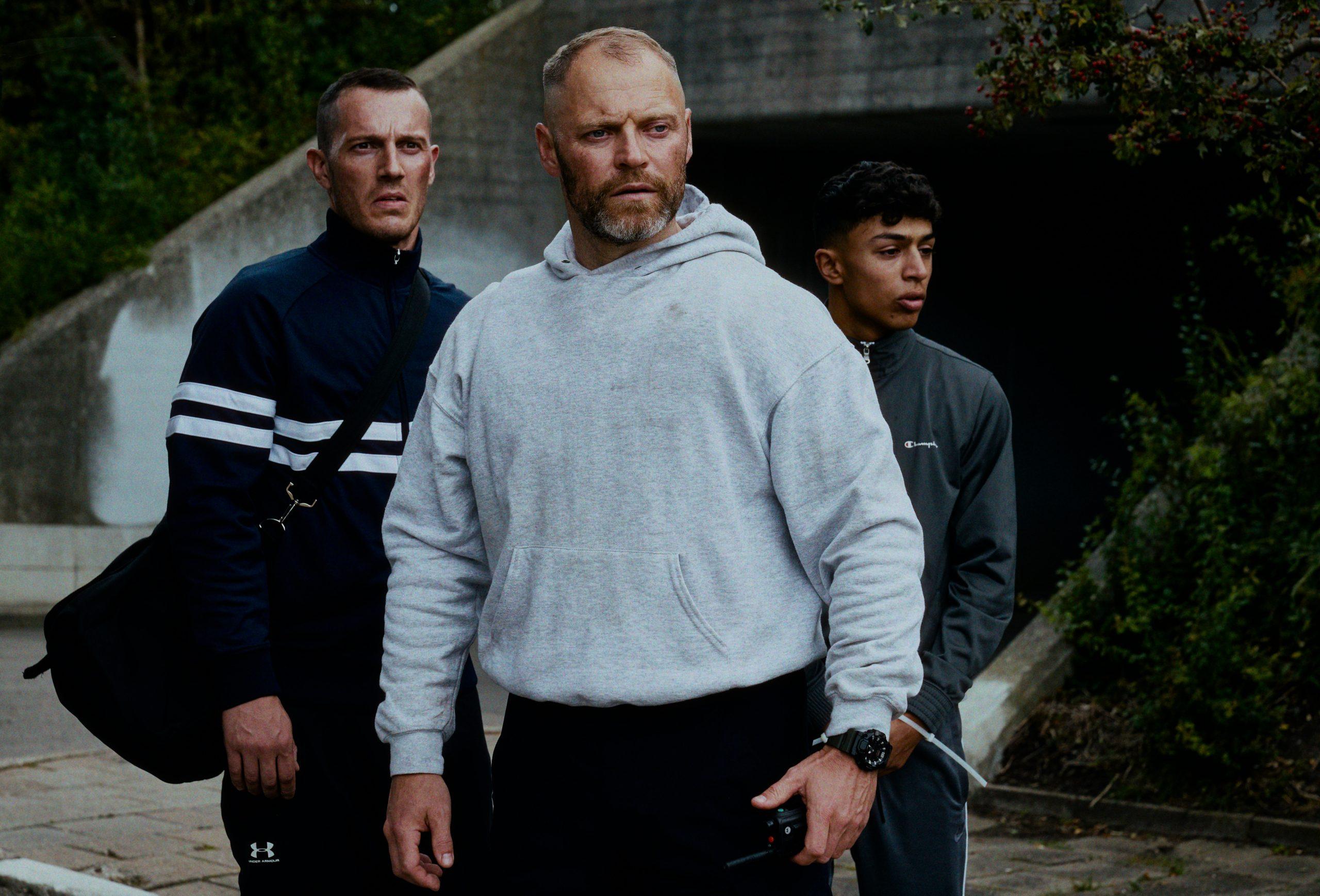 Jacob Lohmann, Simon Sears e Tarek Zayat in Enforcement. Foto di Tine Harden