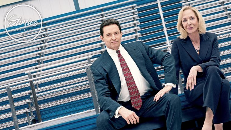 Hugh Jackman e Allison Janney in Bad Education