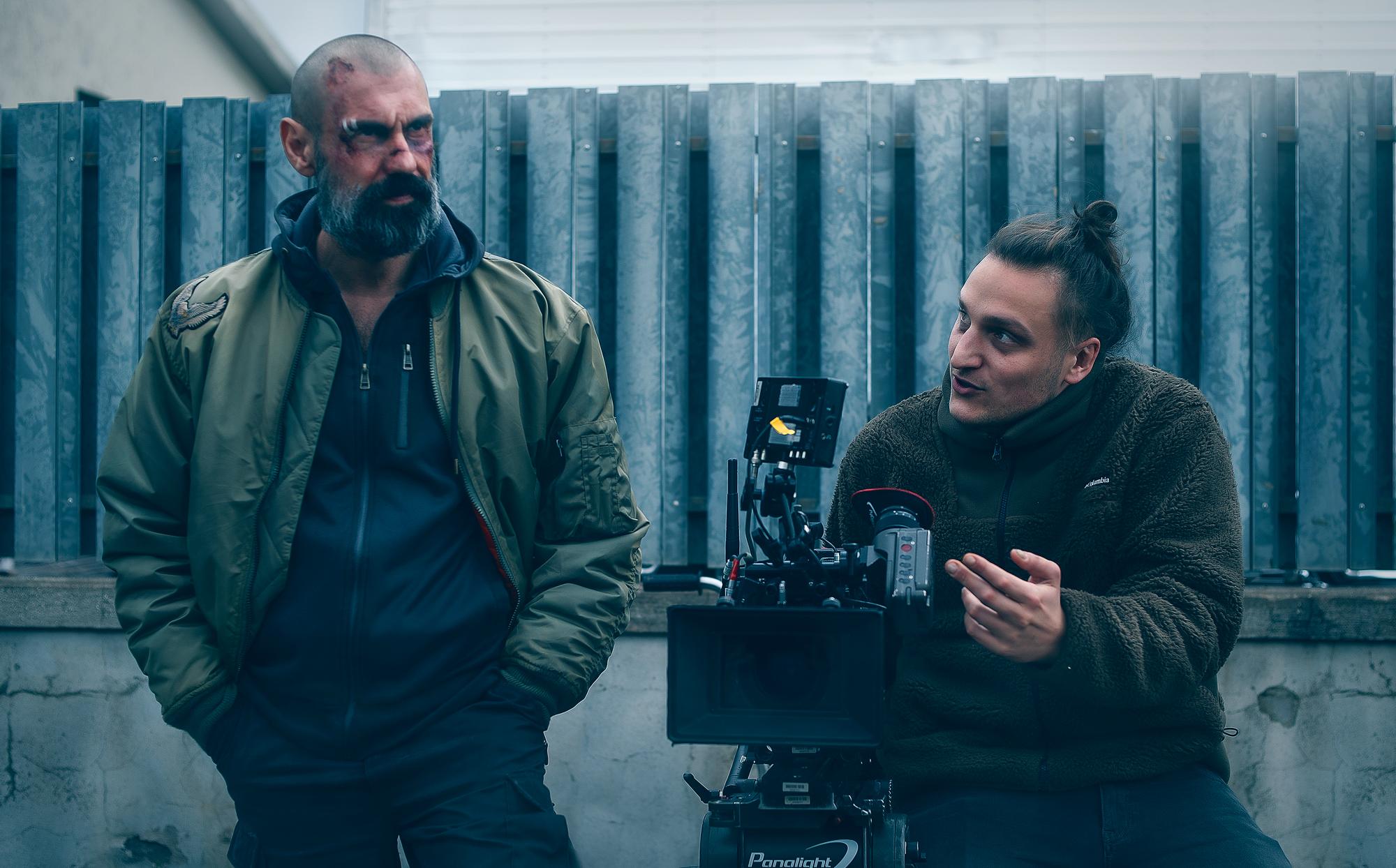 Gifuni e Ludovico Di Martino sul set. Foto di Elio Di Pace