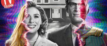Elizabeth Olsen e Paul Bettany nel banner di WandaVision