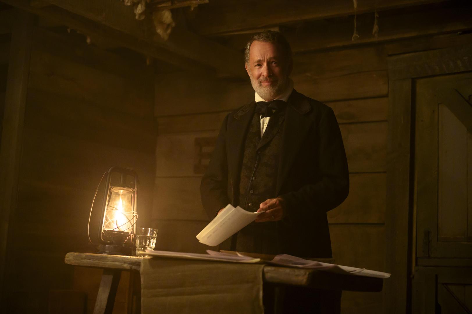 Tom Hanks è Jefferson Kyle Kidd in Notizie dal Mondo