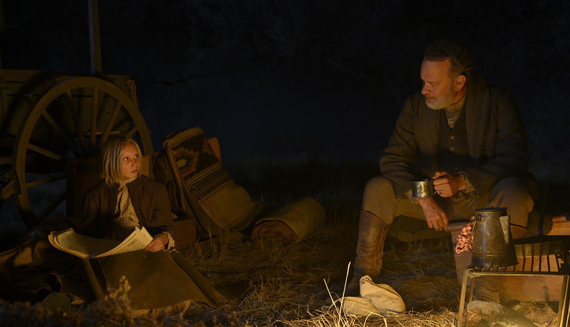 Helena Zengel e Tom Hanks