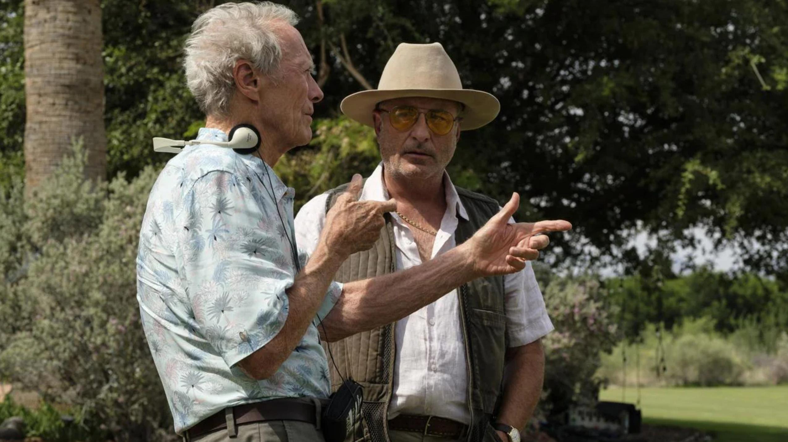 Eastwood e Andy Garcia sul set de Il Corriere