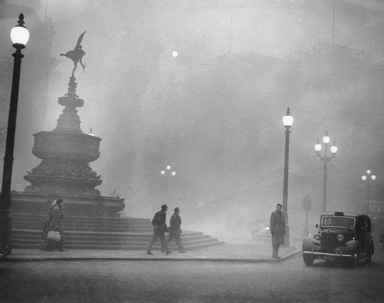 Un'immagine dalla Londra del dicembre 1952