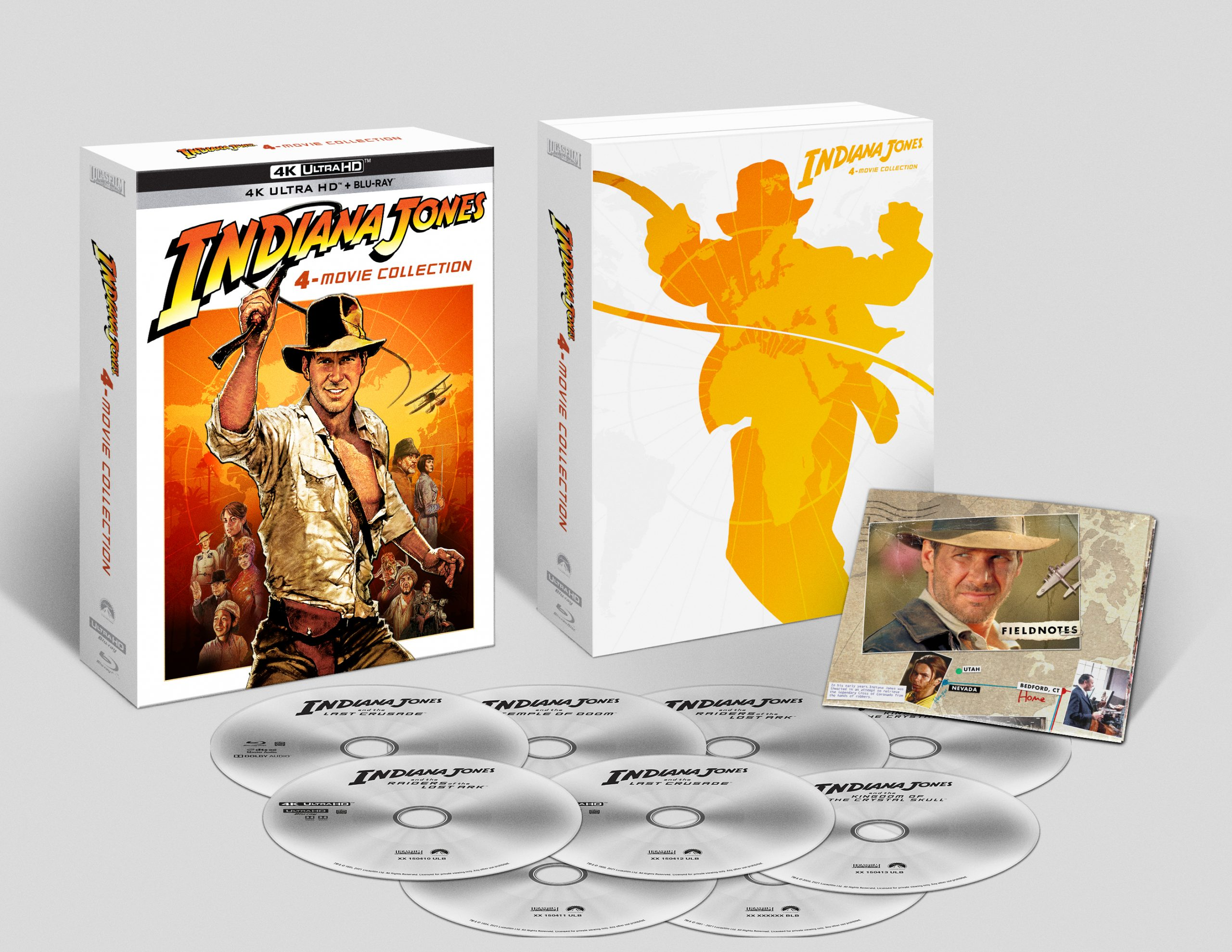 Qui la digipack di Indiana Jones 4-Movie Collection