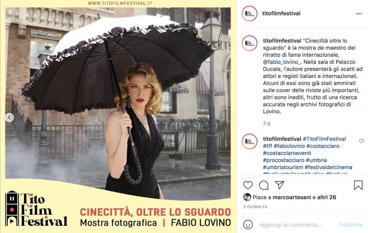 Claudia Gerini vista da Fabio Lovino in mostra al Tito Film Festival