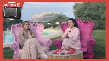 Greta Scarano intervistata all'Hot Corn di Tavolara dalla nostra Manuela Santacatterina