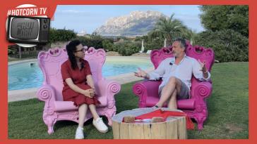 Roberto Proia intervistato all'Hot Corn di Tavolara dalla nostra Manuela Santacatterina