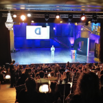 Diego Passoni sul palco dei Diveristy Media Awards 2021
