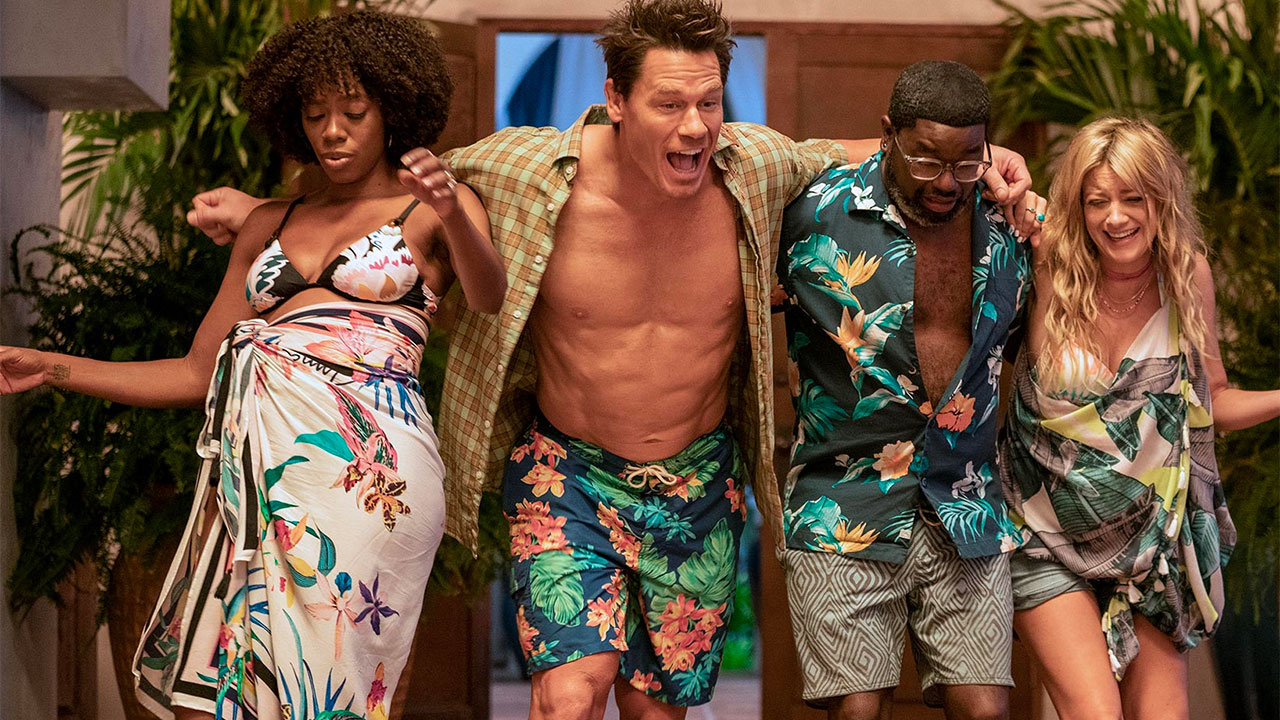 I protagonisti di Amici delle Vacanze: Yvonne Orji, John Cena, Lil Rel Howery e Meredith Hagner