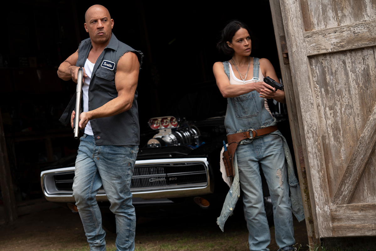 Dom (Vin Diesel) e Letty (Michelle Rodriguez) in Fast & Furious 9