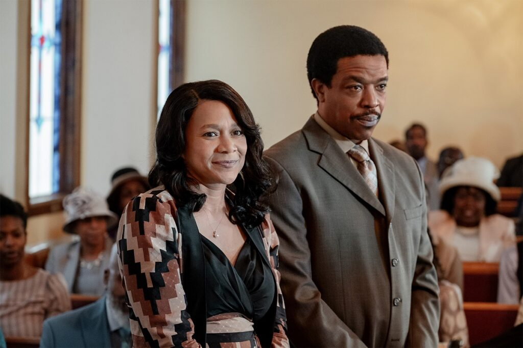Michole Briana White e Russell Hornsby in BMFMichole Briana White e Russell Hornsby in BMF