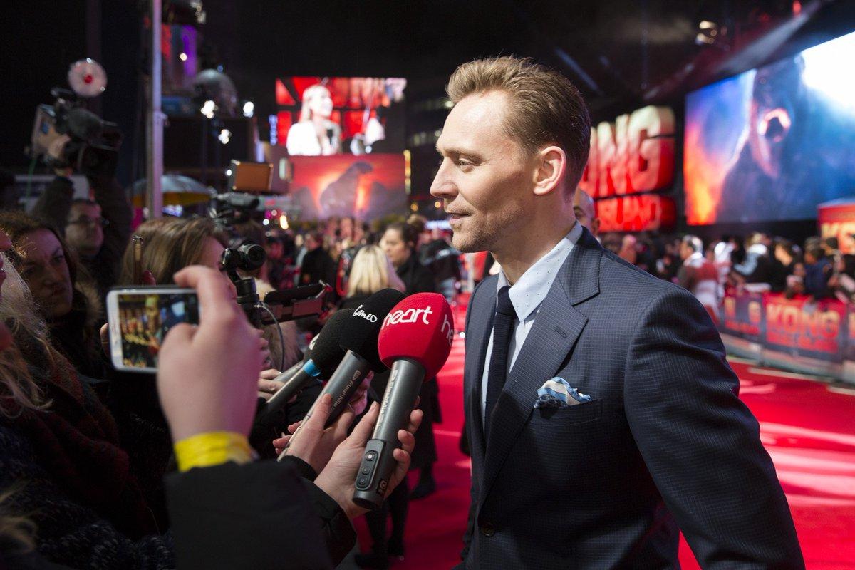 Tom Hiddleston at Kong: Skull Island European Premiere in London